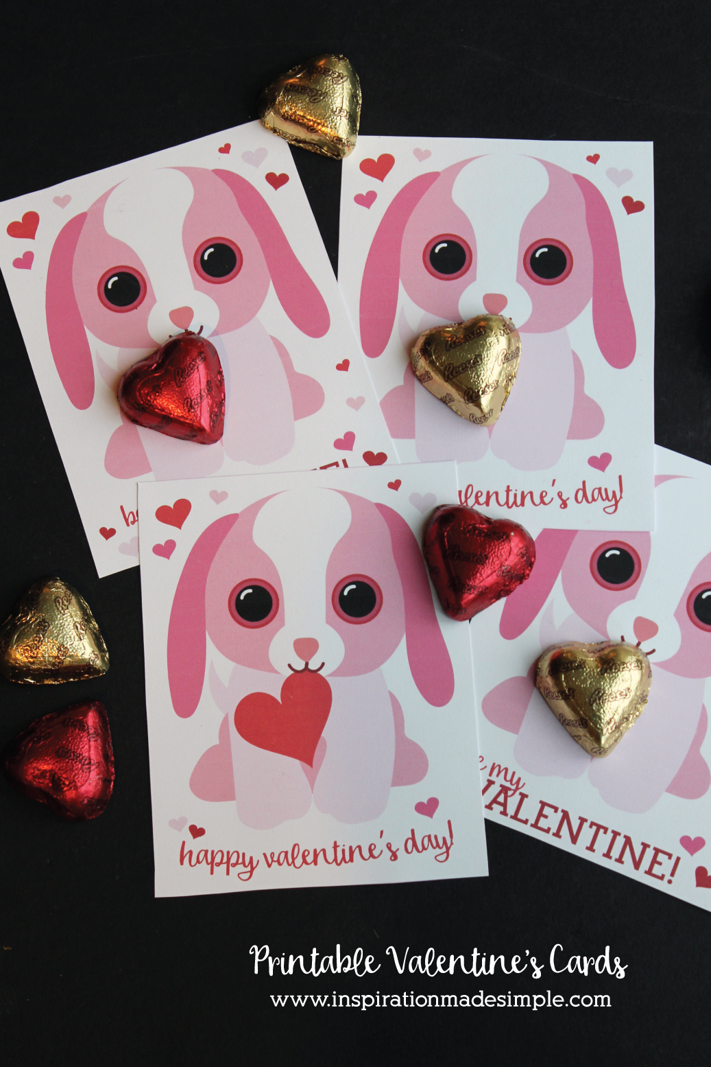 Printable Puppy Valentine's Day Cards