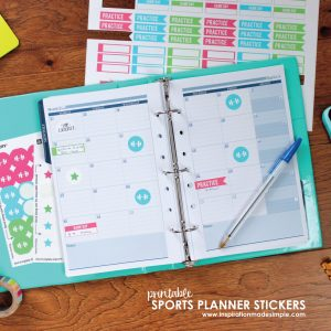 Youth Sports Planner Stickers