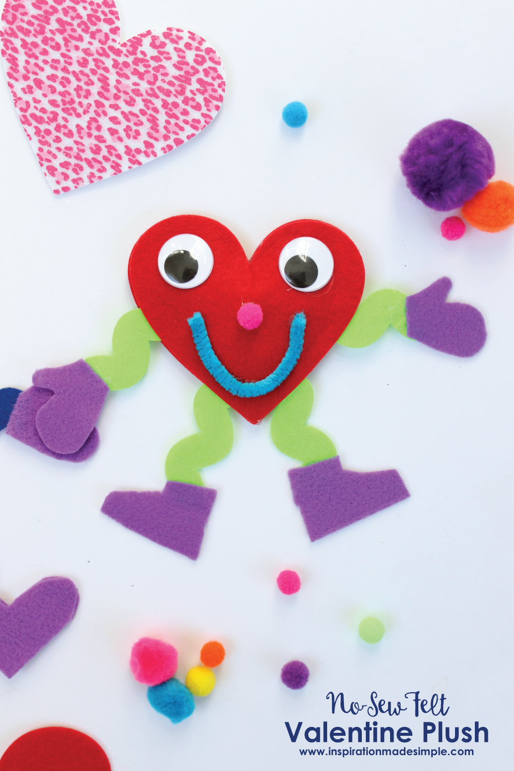 No Sew Valentine Plus Kids Craft
