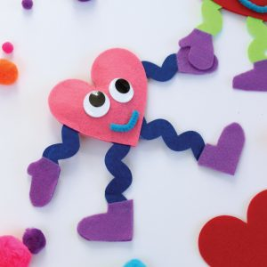 No-Sew Valentine Plush Kids Craft