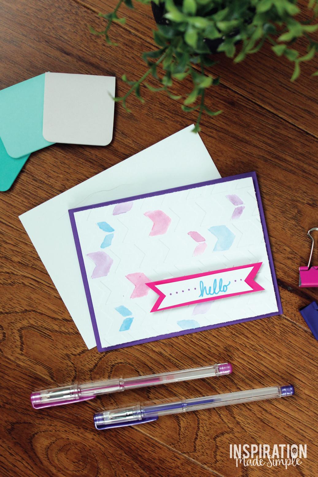 Diy watercolor embossed greeting card inspiration made simple diy watercolor embossed greeting card m4hsunfo