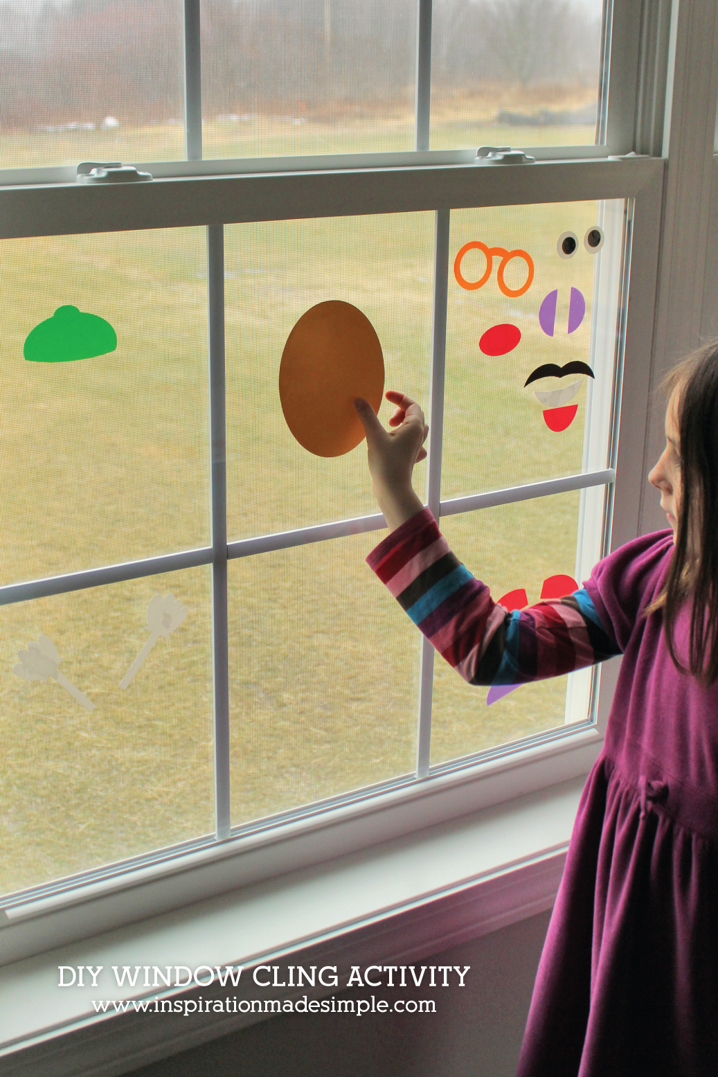 DIY Window Clings make for a fun kids activity!