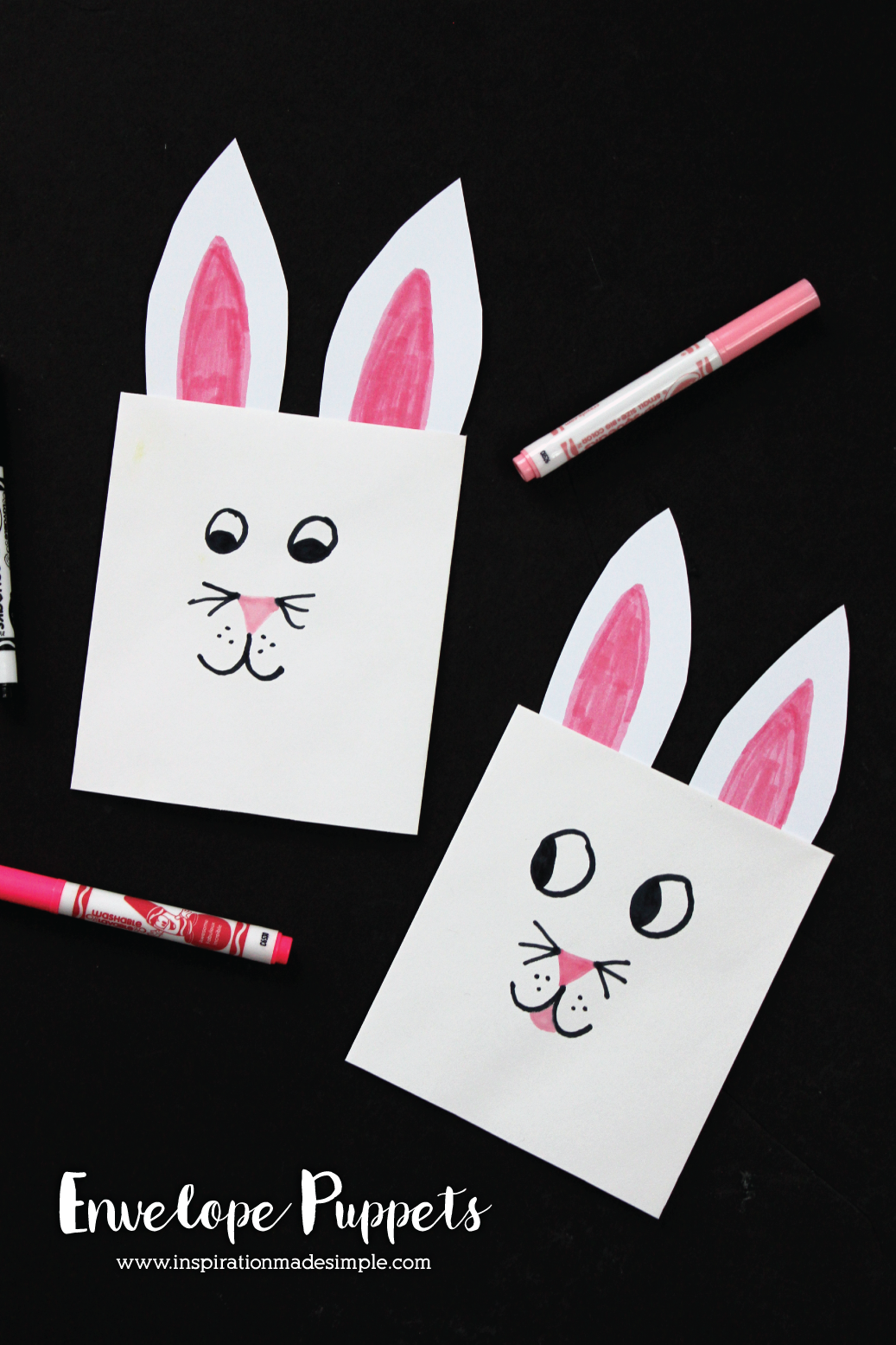 DIY Easter Bunny Envelope Puppets
