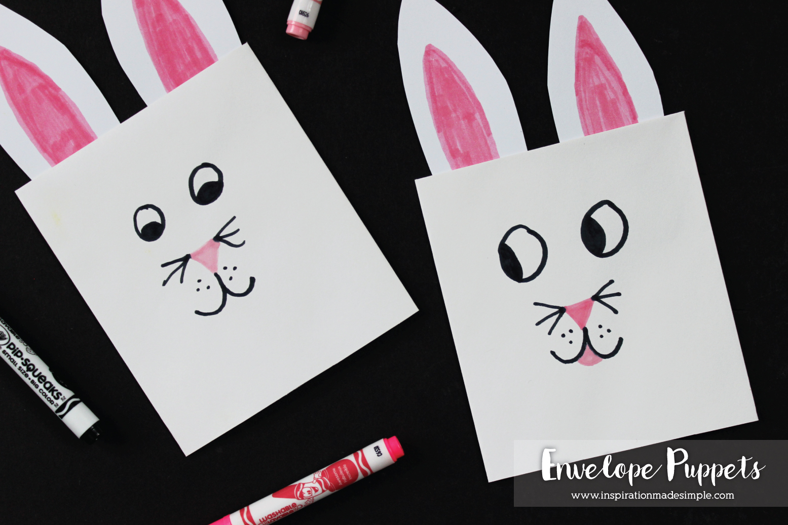 Easter Bunny Envelope Puppets are fun and simple to make! Great boredom buster.