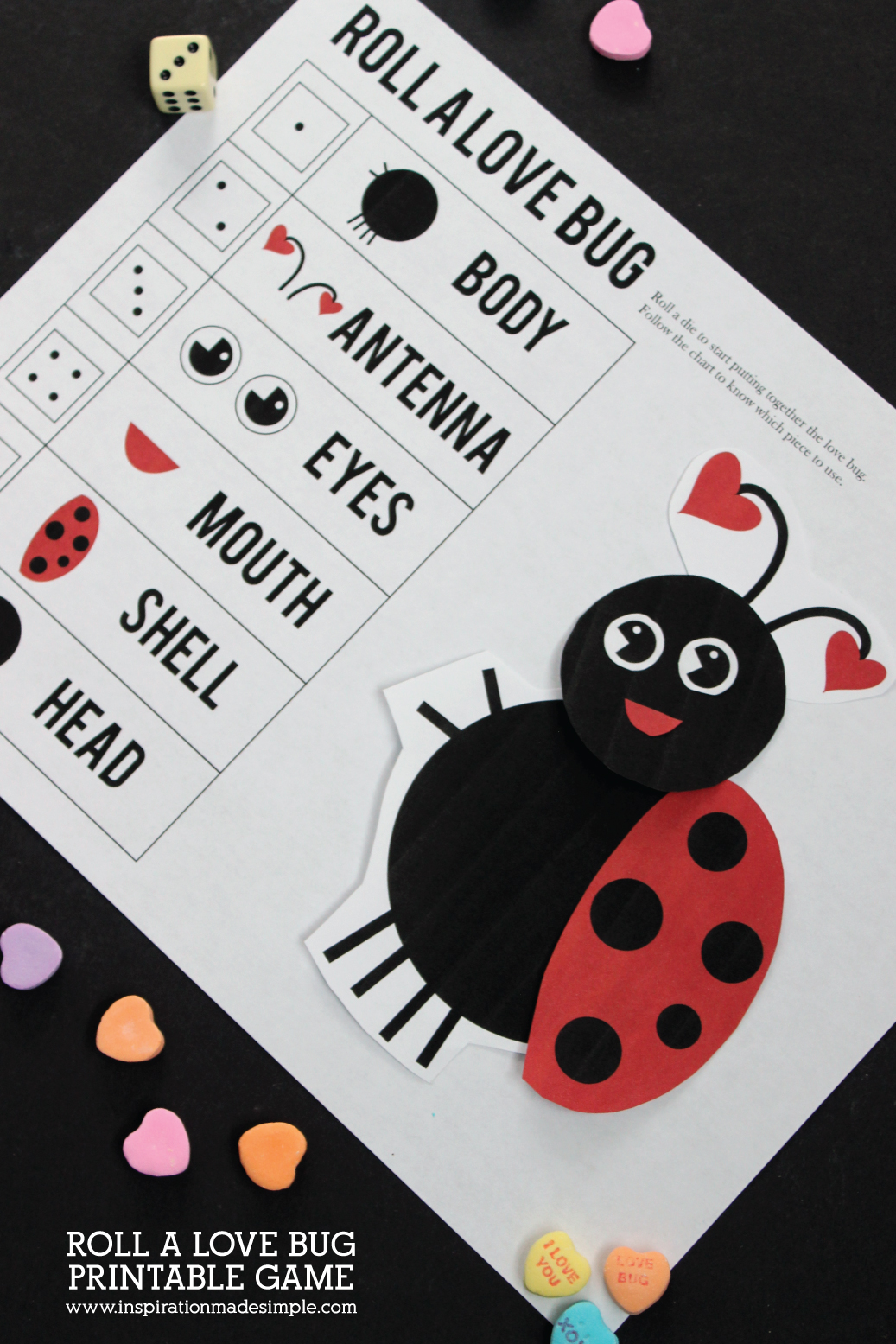 Roll A Love Bug Game