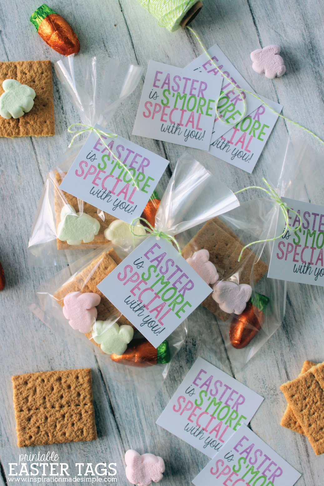 Easter S'mores Printable Favor Tag