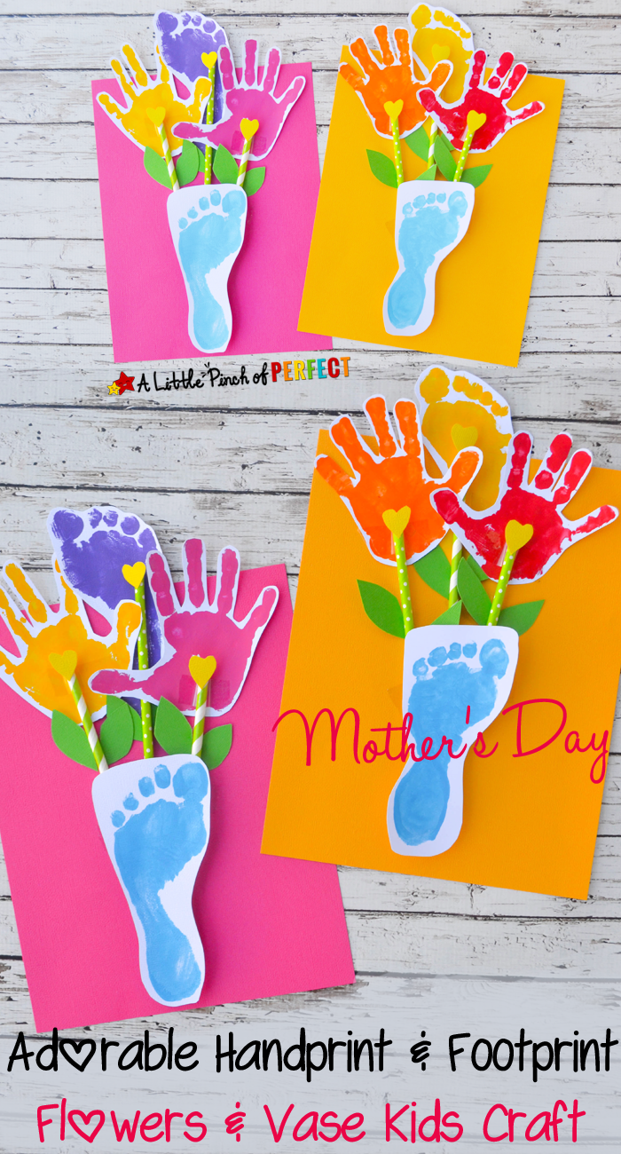 Creatively Thoughful Mother's Day Gift Ideas: Handprint and Footprint Kids Craft