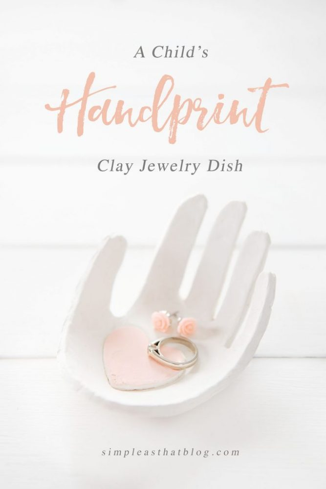 Creatively Thoughful Mother's Day Gift Ideas: Handprint Jewelry Dish