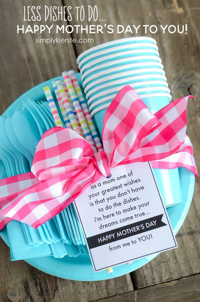 Creatively Thoughful Mother's Day Gift Ideas: Less Dishes for Mom Gift Idea