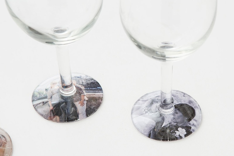 Creatively Thoughful Mother's Day Gift Ideas: Photo Wine Glasses