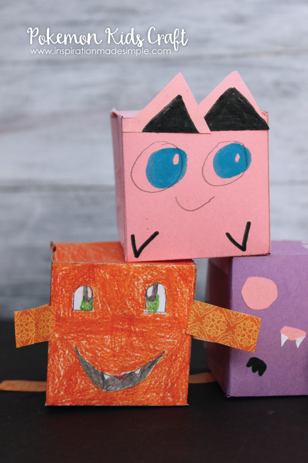 Pokemon Kids Craft - kid created, kid approved!