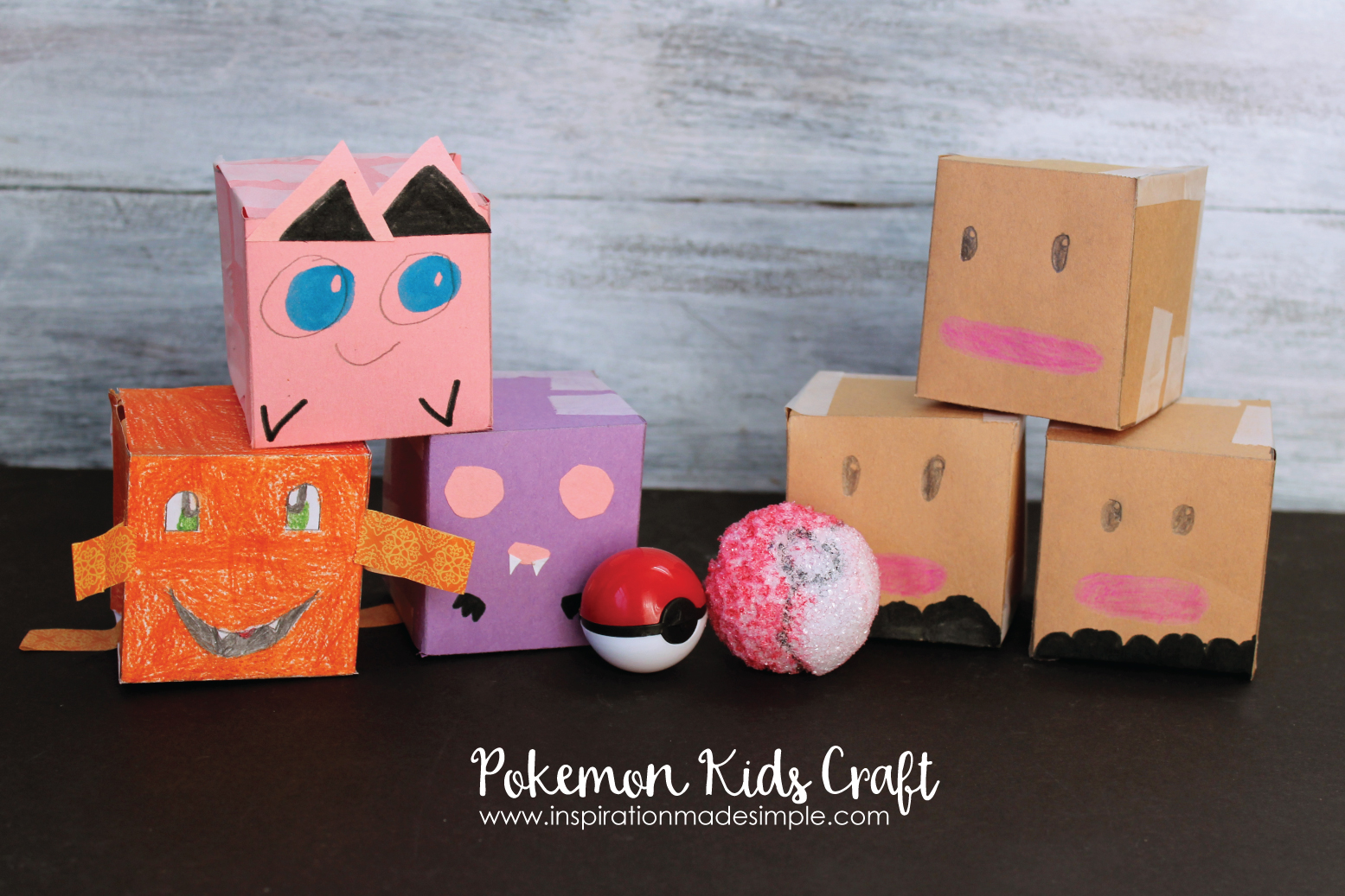 Pokemon Kids Craft - kid created, kid approved!