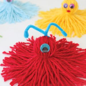 DIY Yarn Monsters