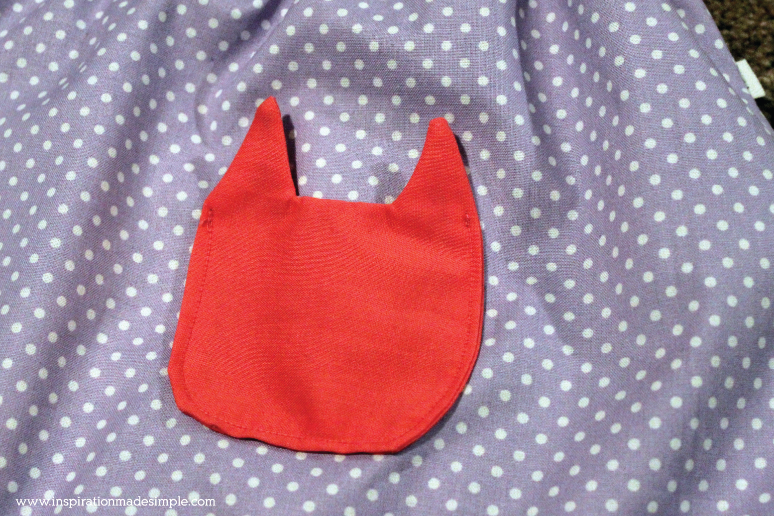 DIY Cat Head Pocket Skirt