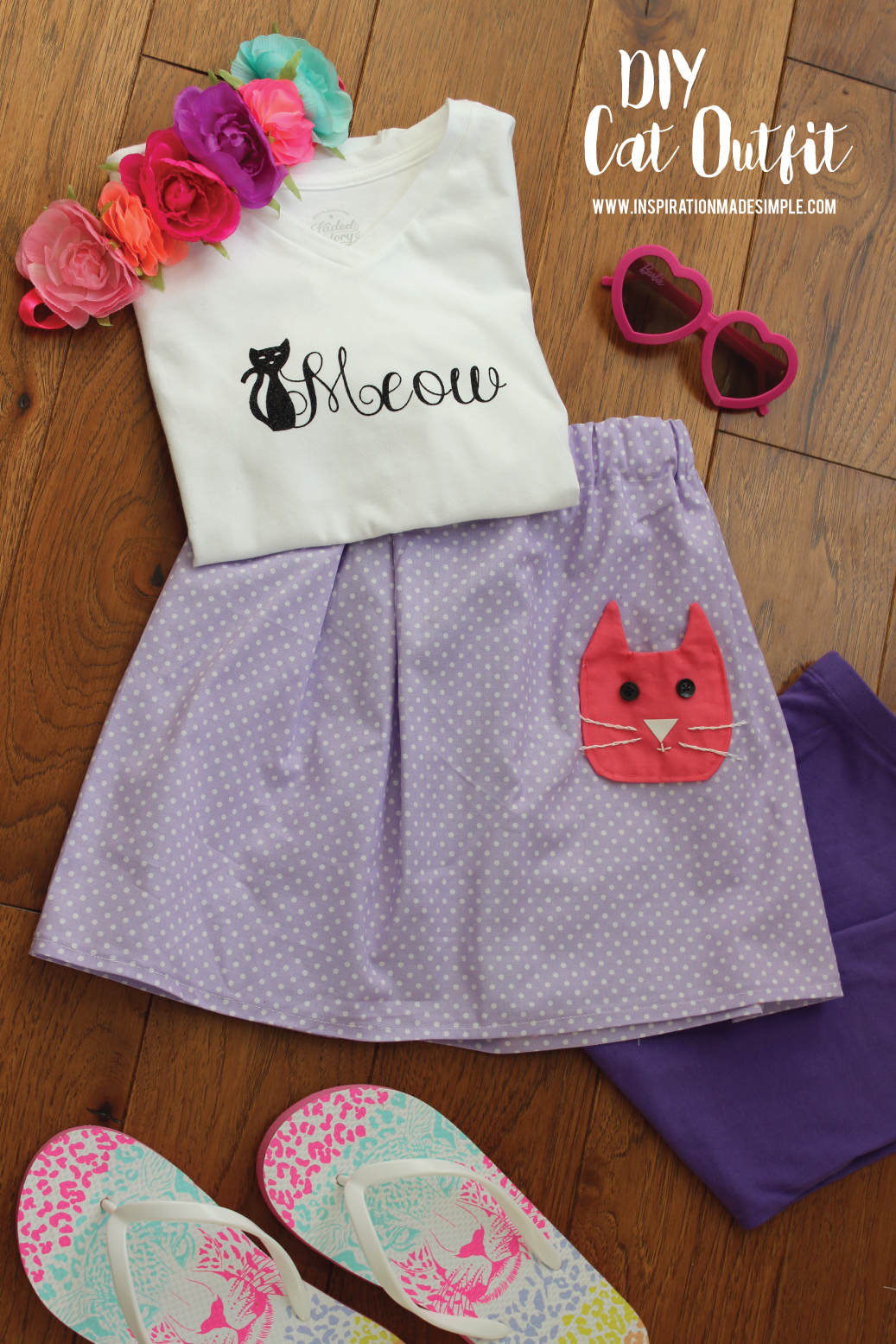 DIY Kitty Outfit for Little Girls