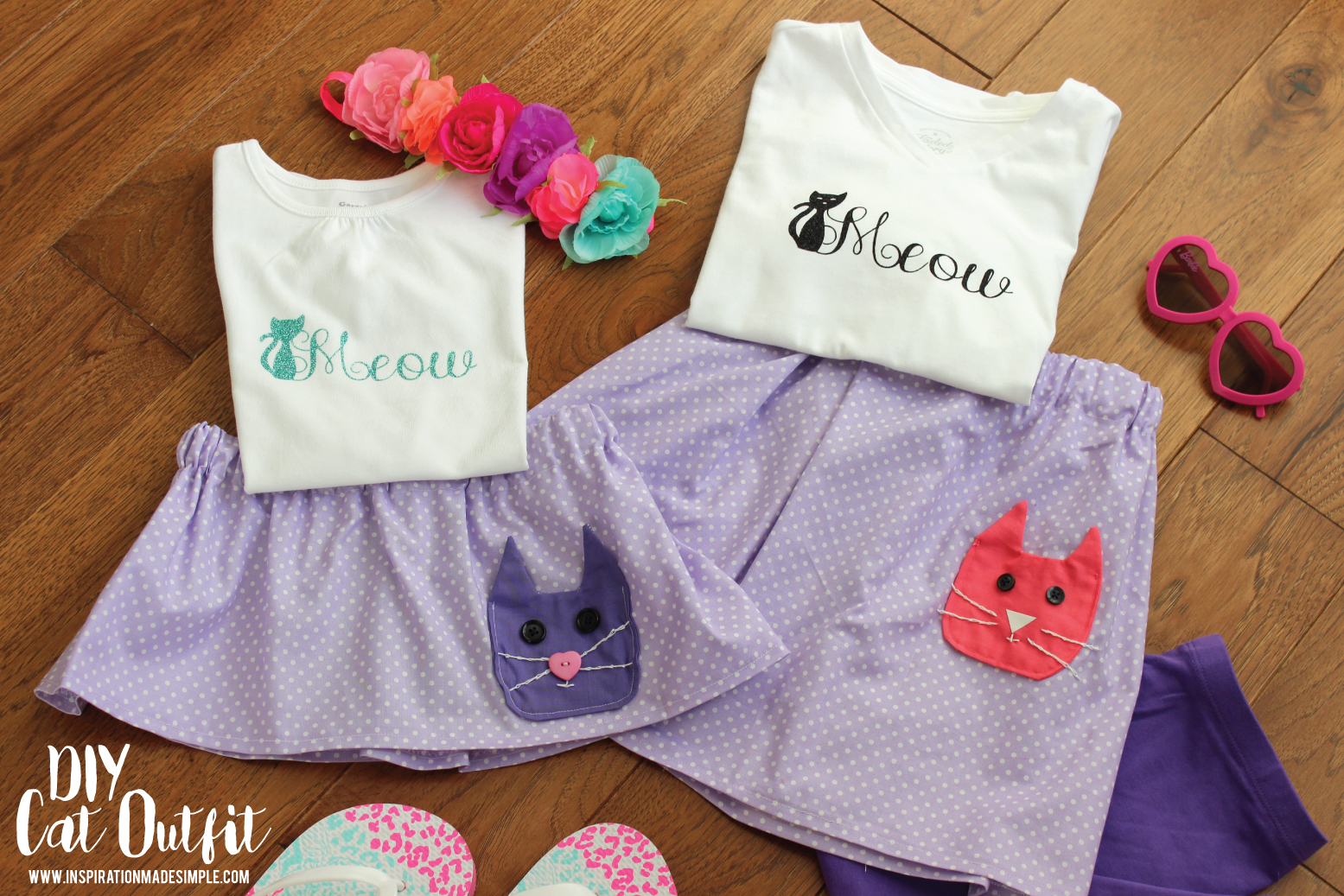 DIY Cat Outfit for Little Girls