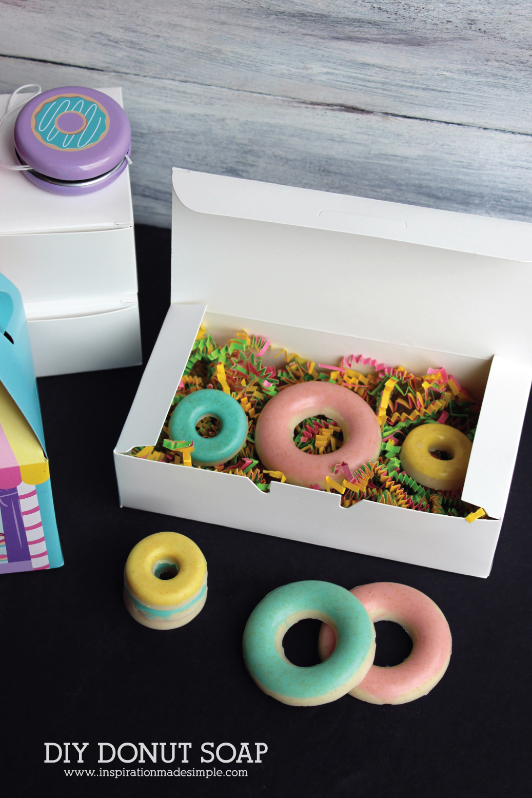 DIY Donut Soap Party Favor Idea