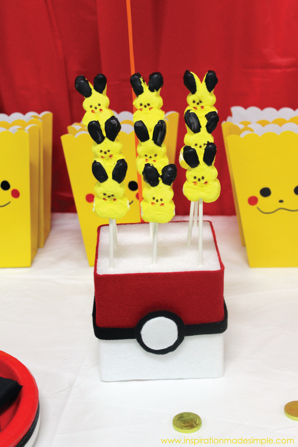 DIY Pokeball Treat Stands