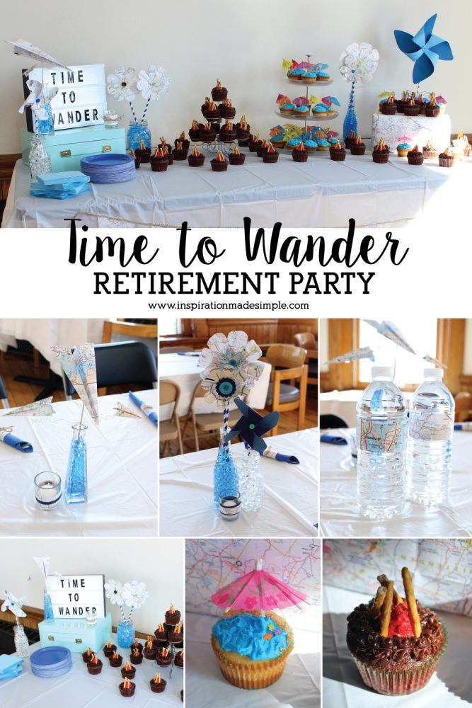 Time to Wander DIY Retirement Party