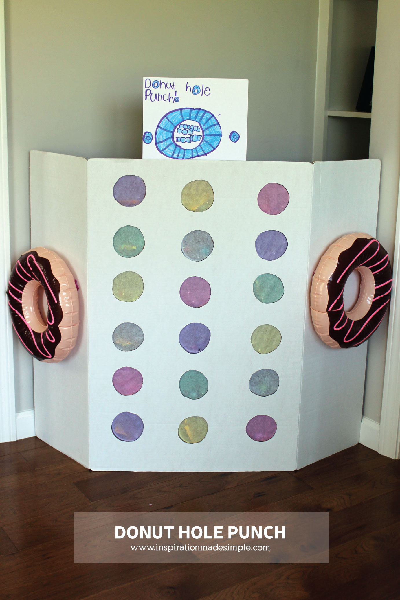 DIY Donut Party Game - Try this instead of a pinata! So much fun and kids love it!