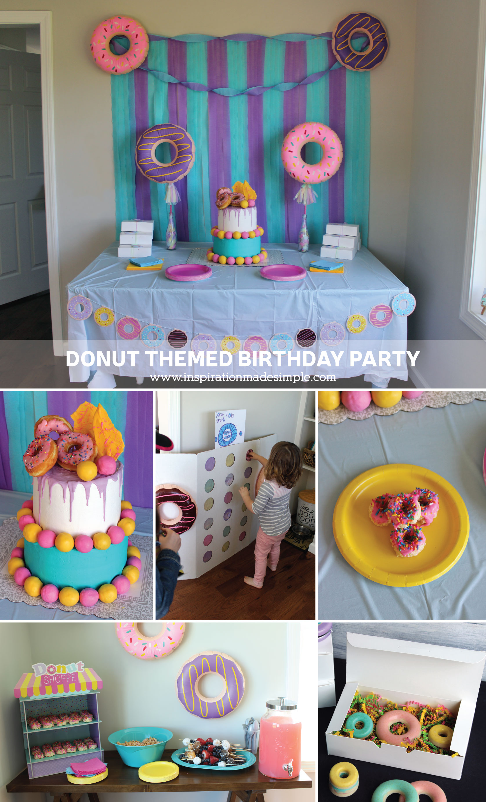 Simple DIY Donut Themed Birthday Party