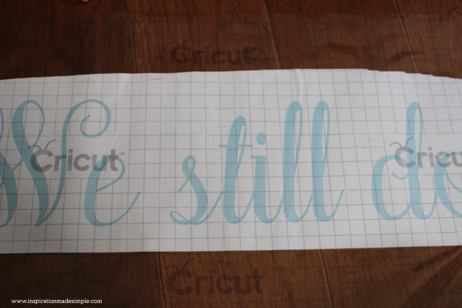 DIY Vinyl Stencil with Cricut Explore