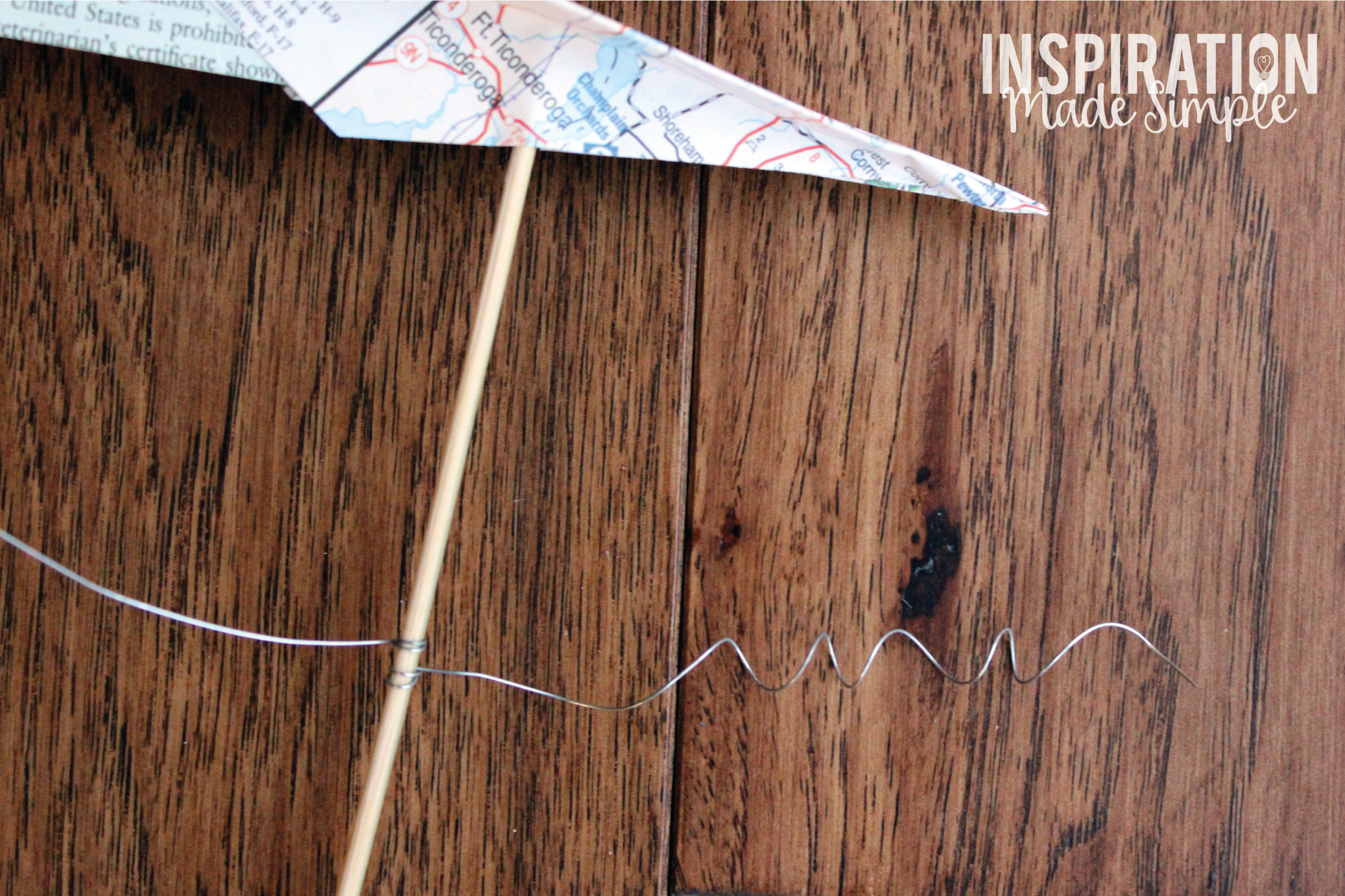 Paper Airplane Centerpiece Tutorial