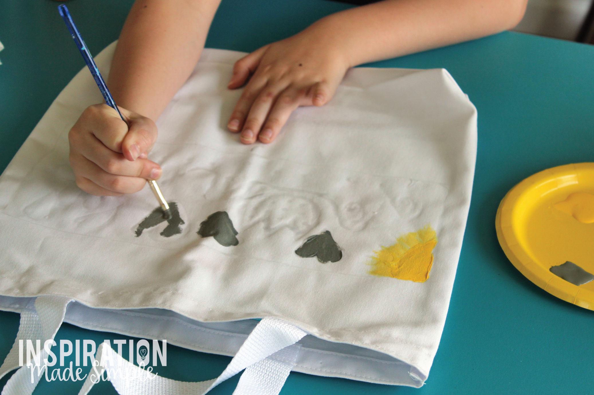 Glue Resist Fabric Painting Kids Craft Tutorial