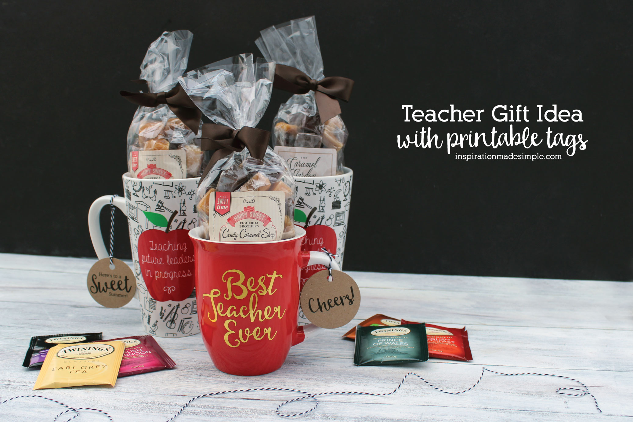 Teacher GIft Idea with Printable Tags for Summer