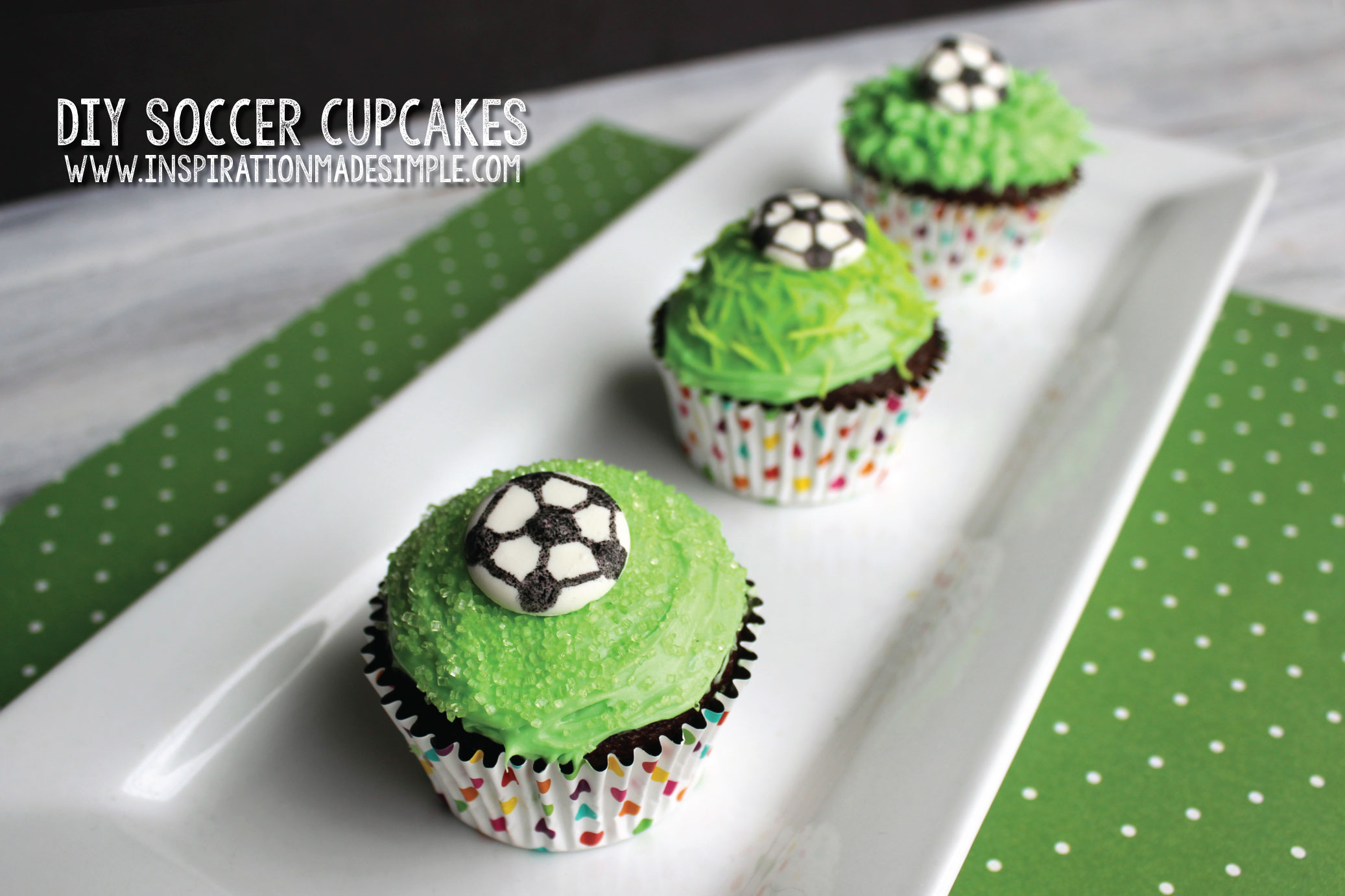 Simple DIY Soccer Cupcakes