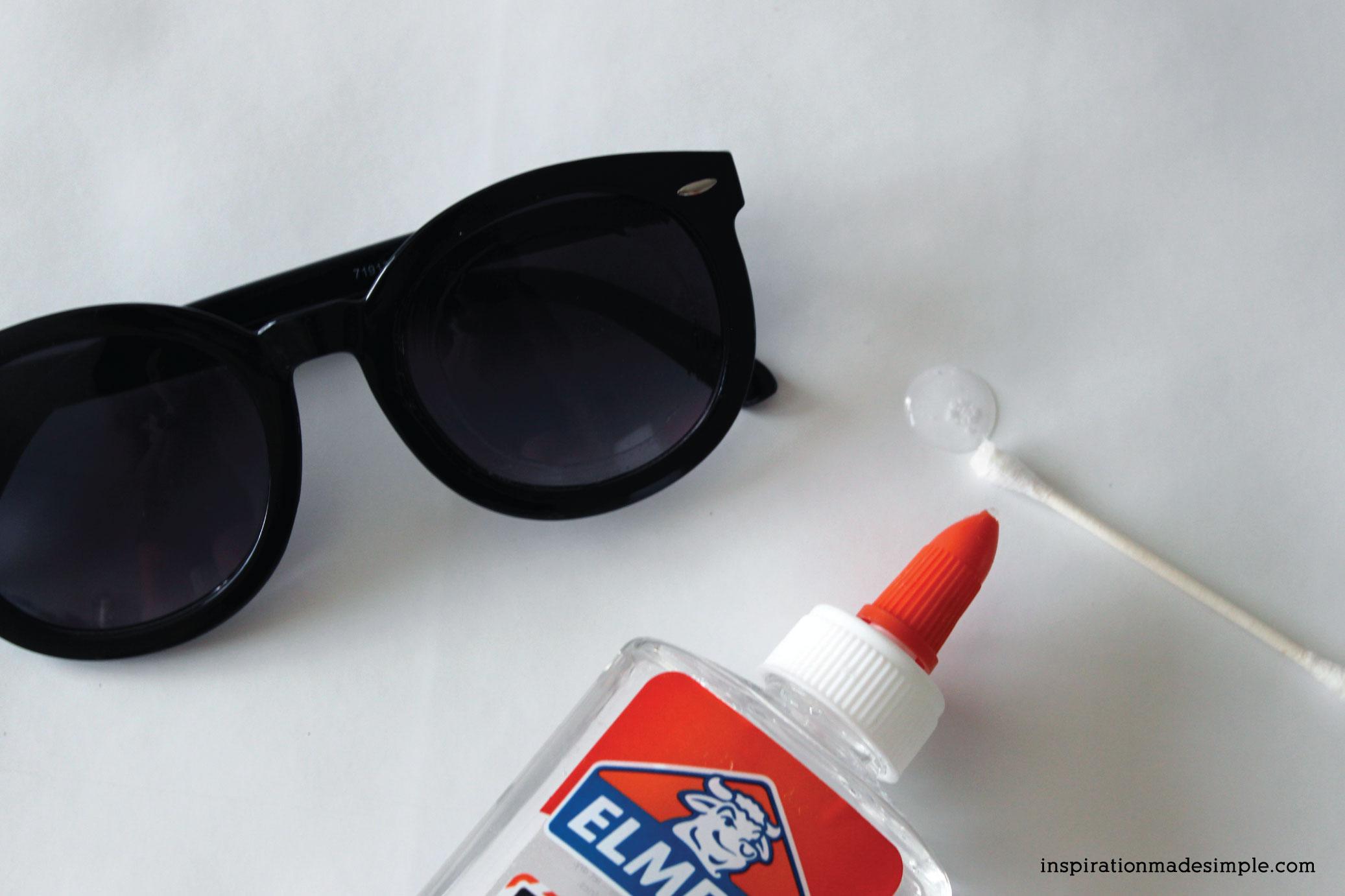 DIY Glitter Sunglasses