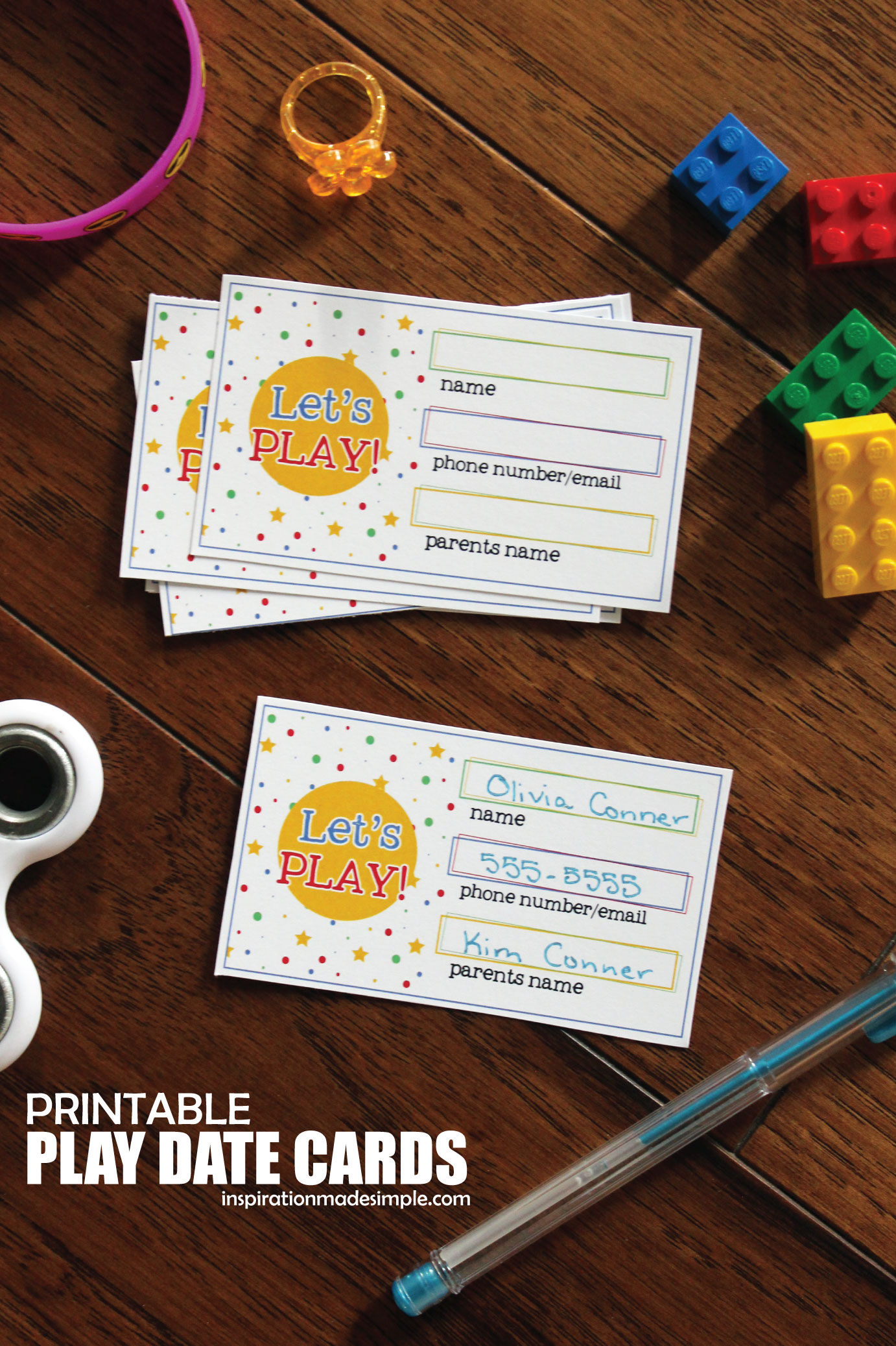 Printable Play Date Cards for Kids
