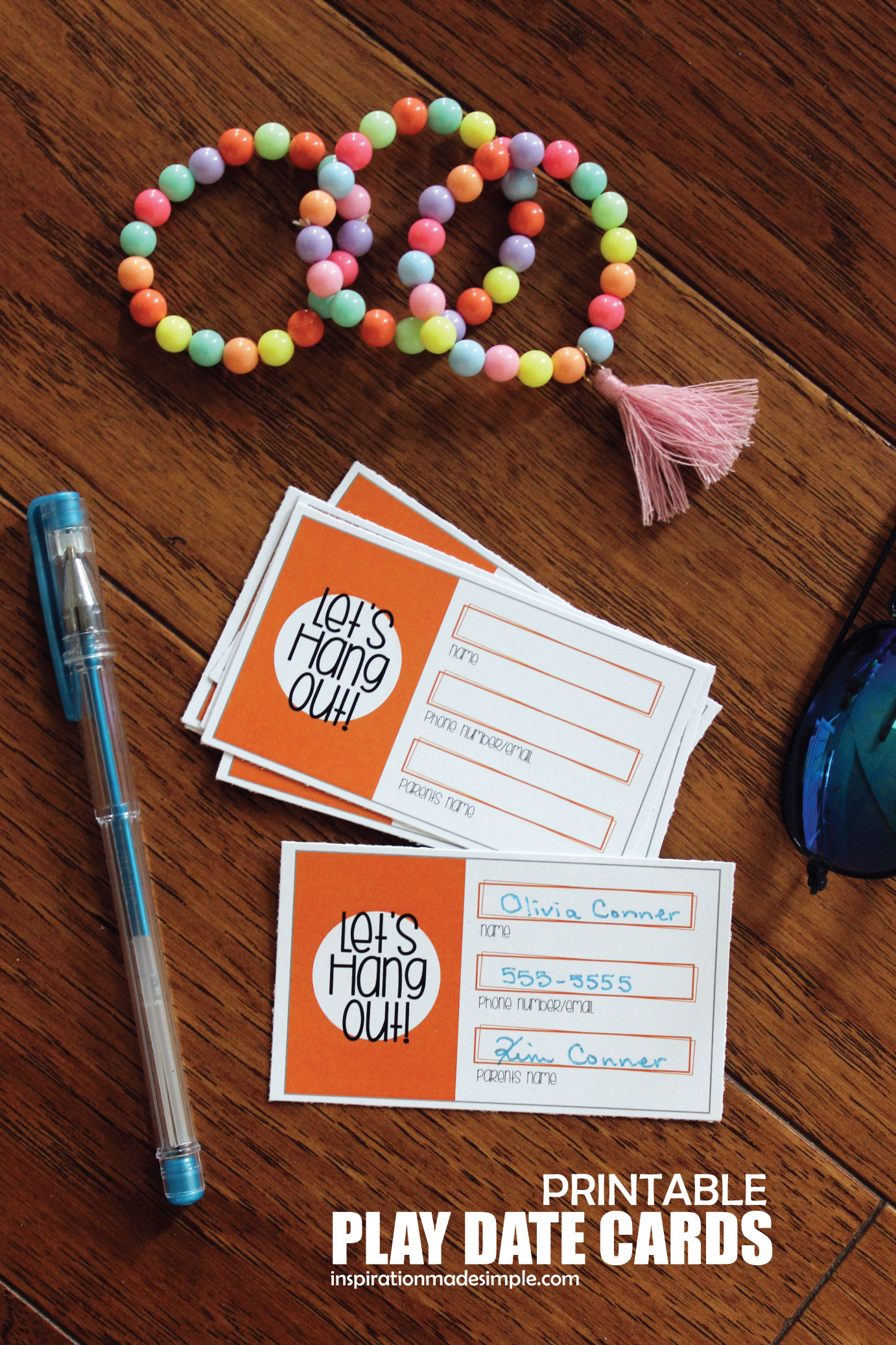Printable play date cards keeps your kids social lives hopping!