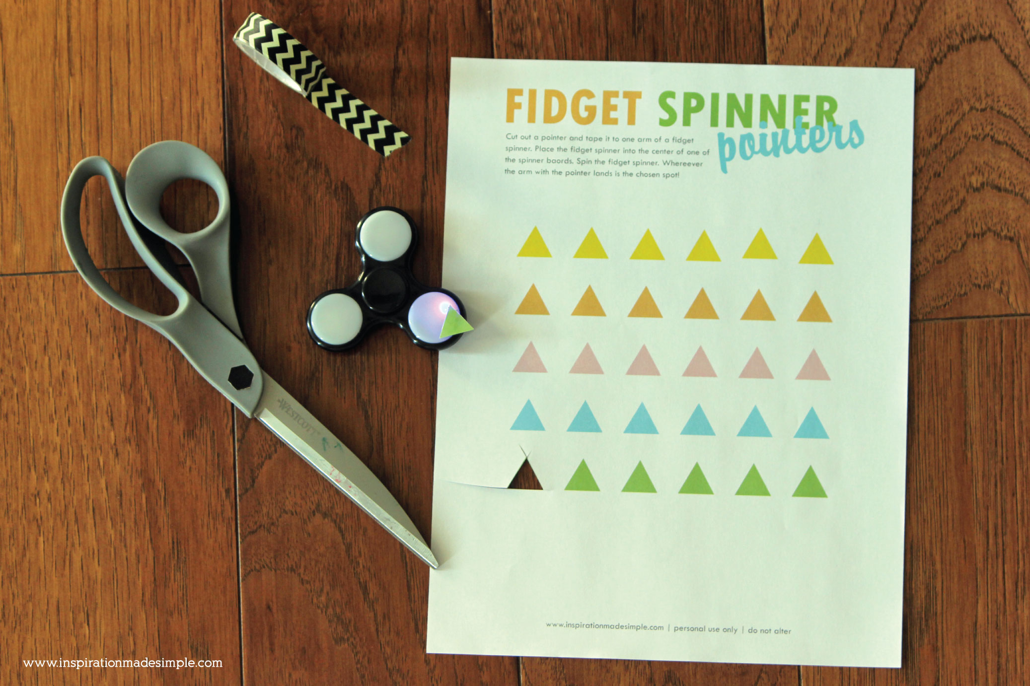 Printable Fidget Spinner Pointers for fidget spinner spinner boards!