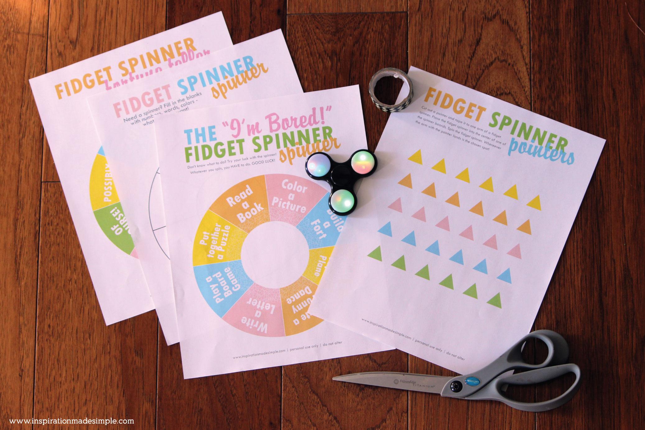 Printable Fidget Spinner Spinners