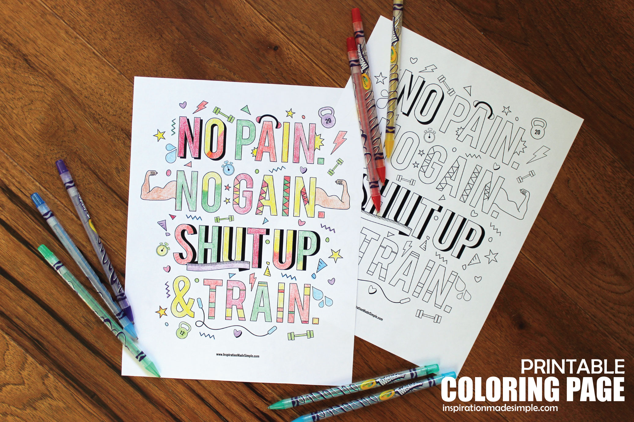 Printable Fitness Coloring Page