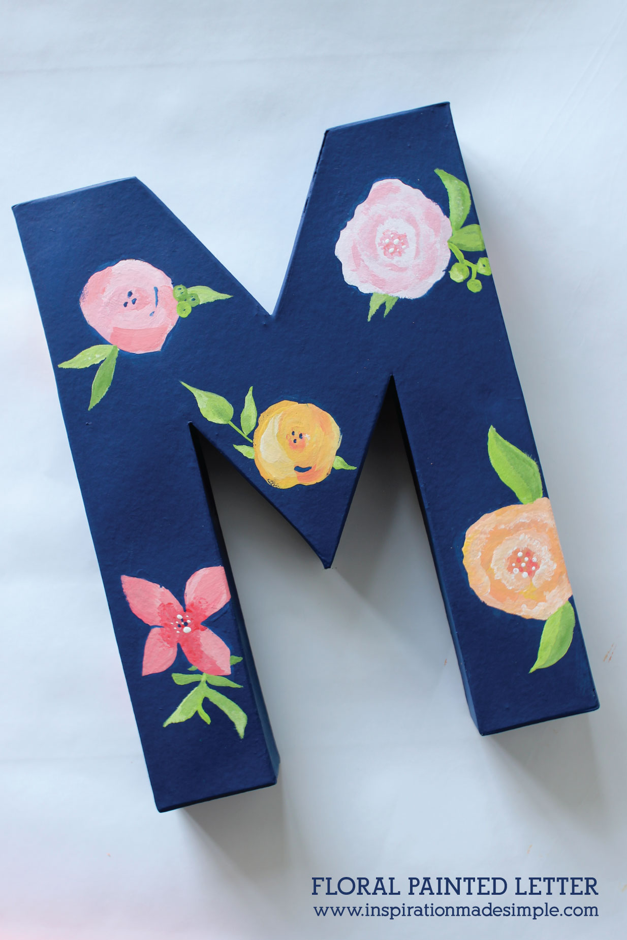 Floral Painted Letter