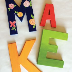 DIY Floral Word Art
