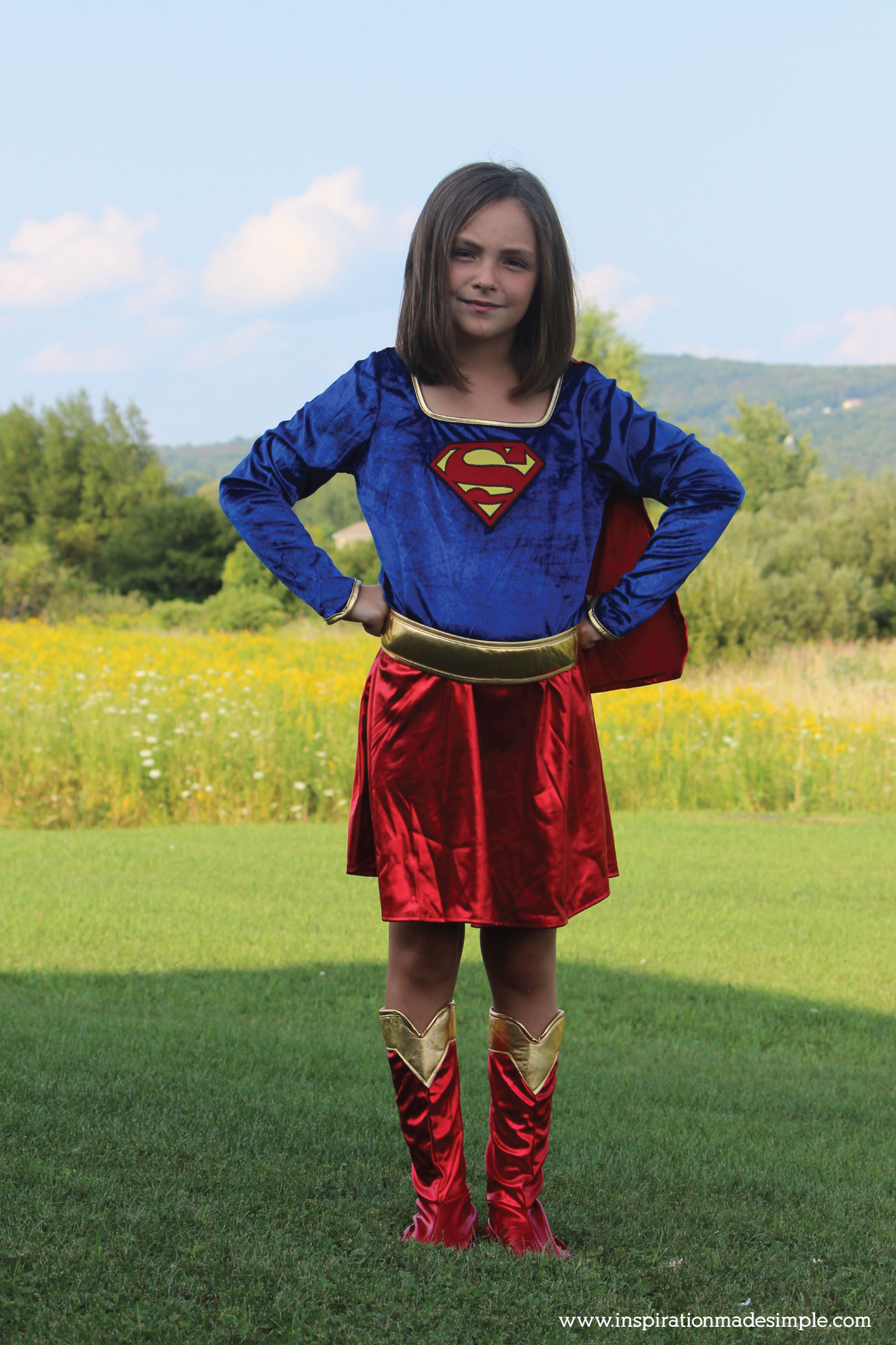 Supergirl Kids Costume