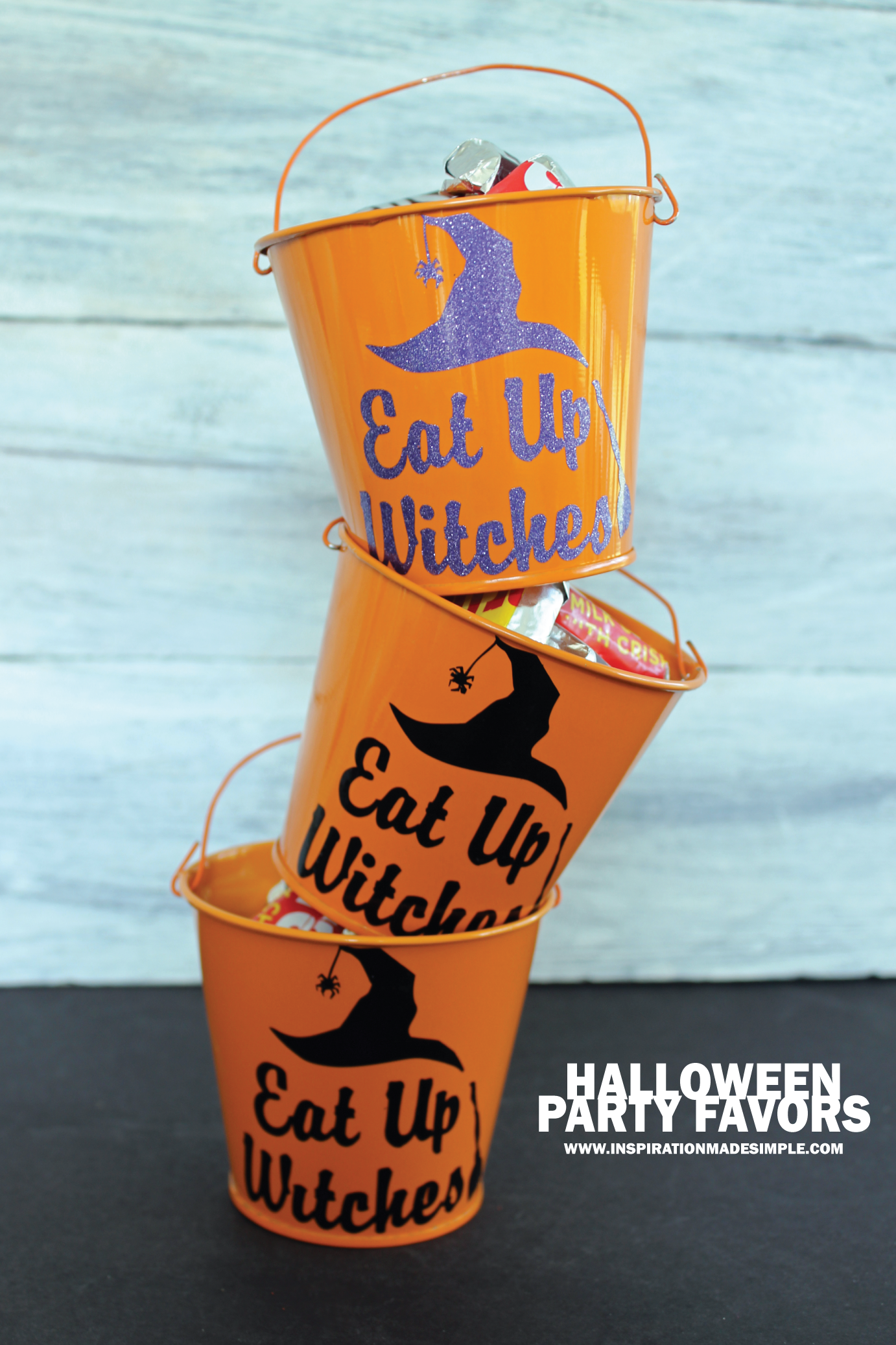 DIY Eat Up Witches Halloween Favor
