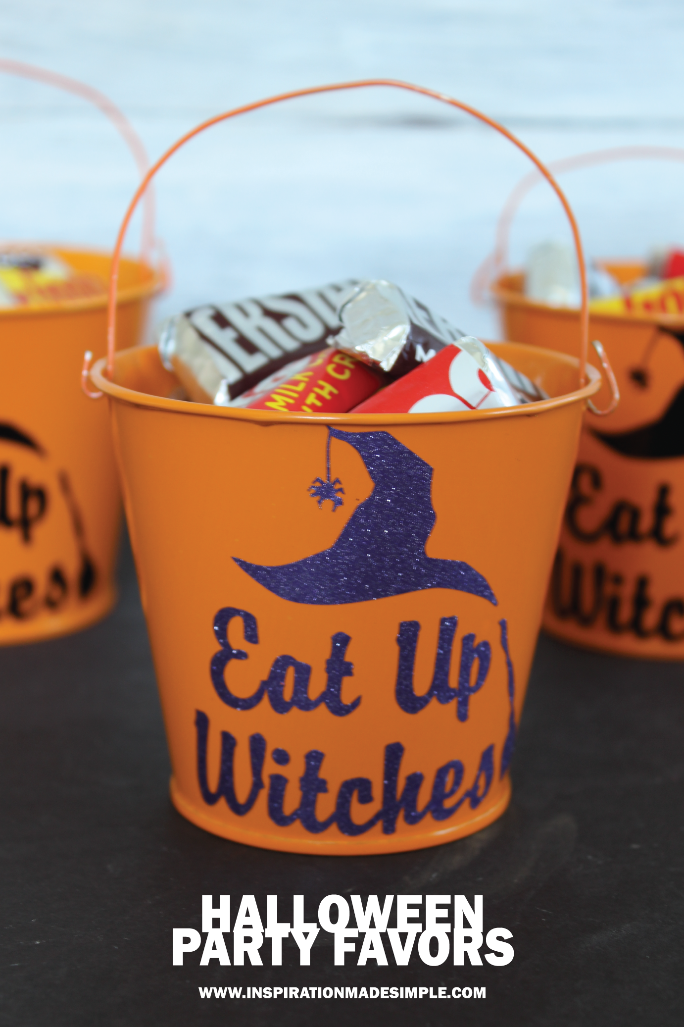 Eat Up Witches! Halloween Party Favor