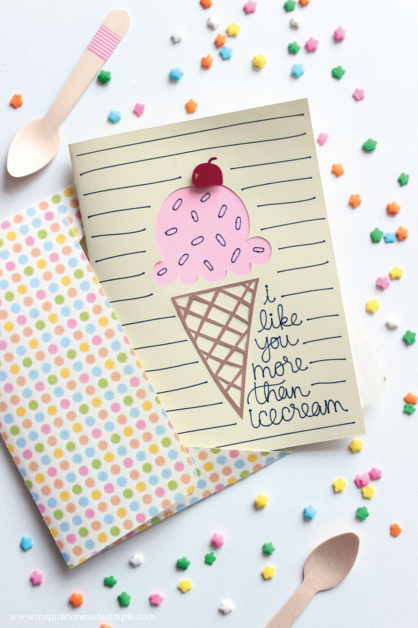DIY Ice Cream Card with the Cricut Maker