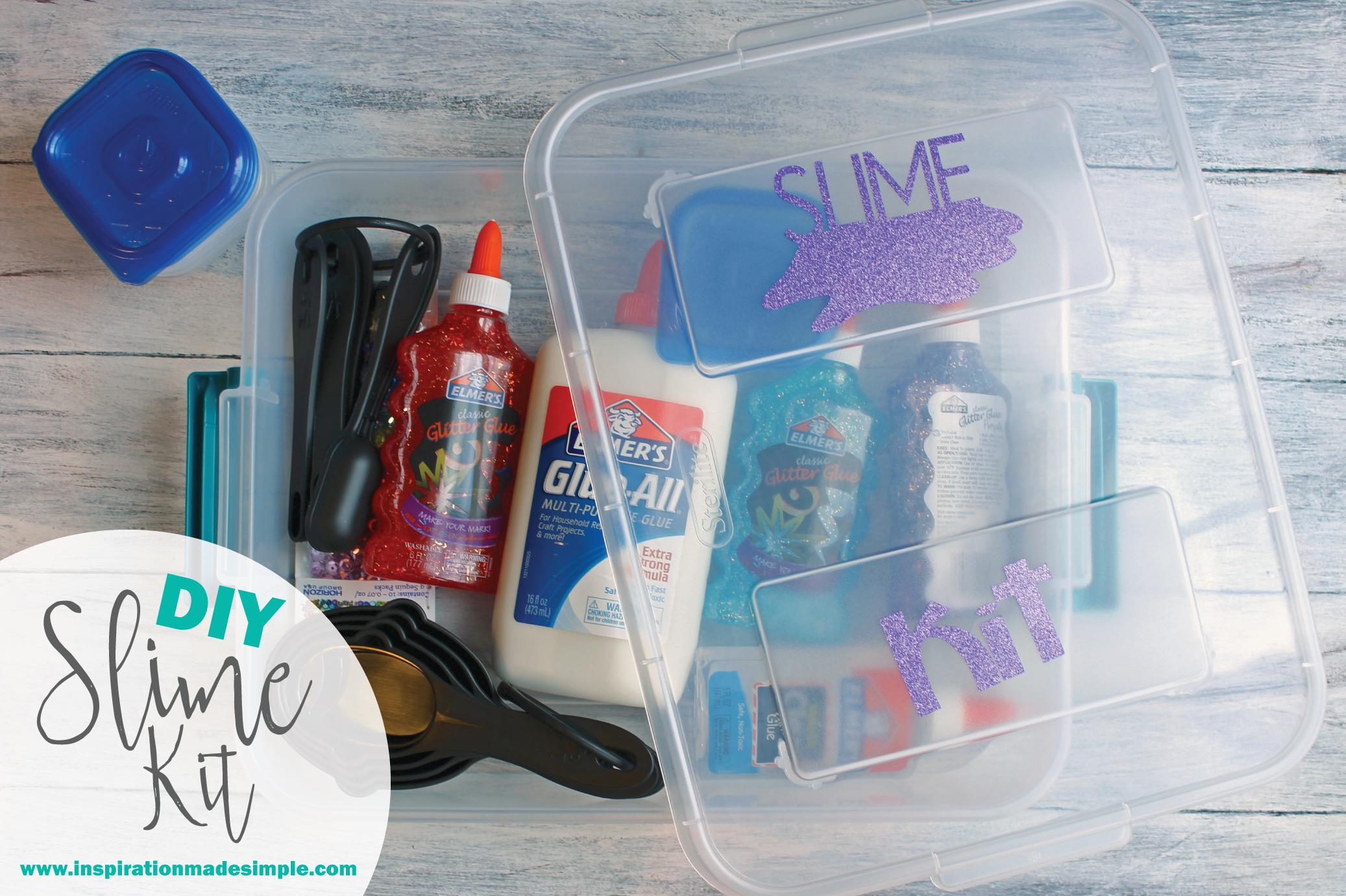 DIY Slime Kit Gift Idea for Kids