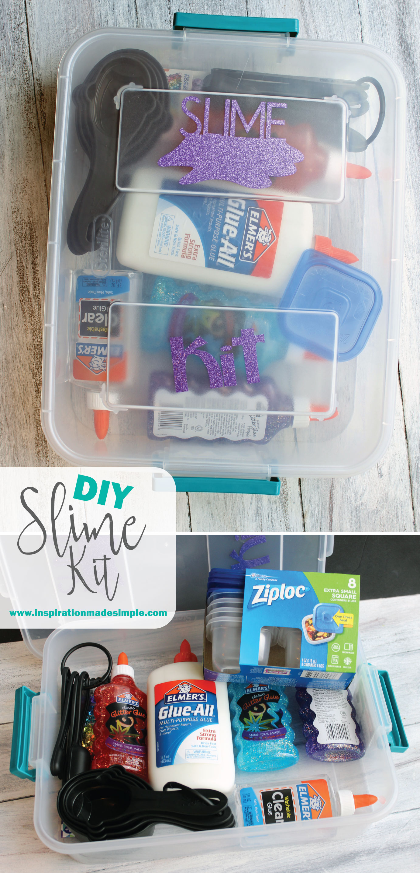DIY Slime Kit Gift Idea for Kids