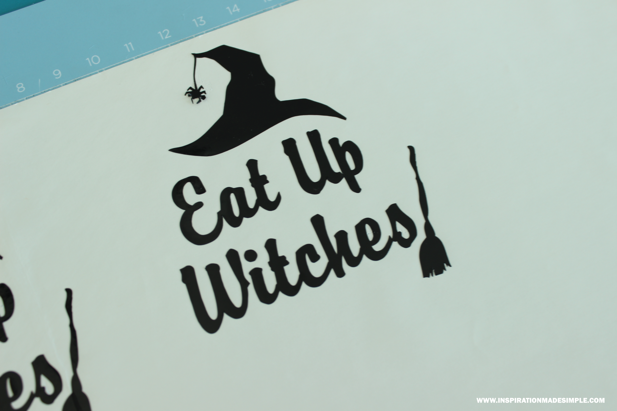 DIY Eat Up Witches Decal