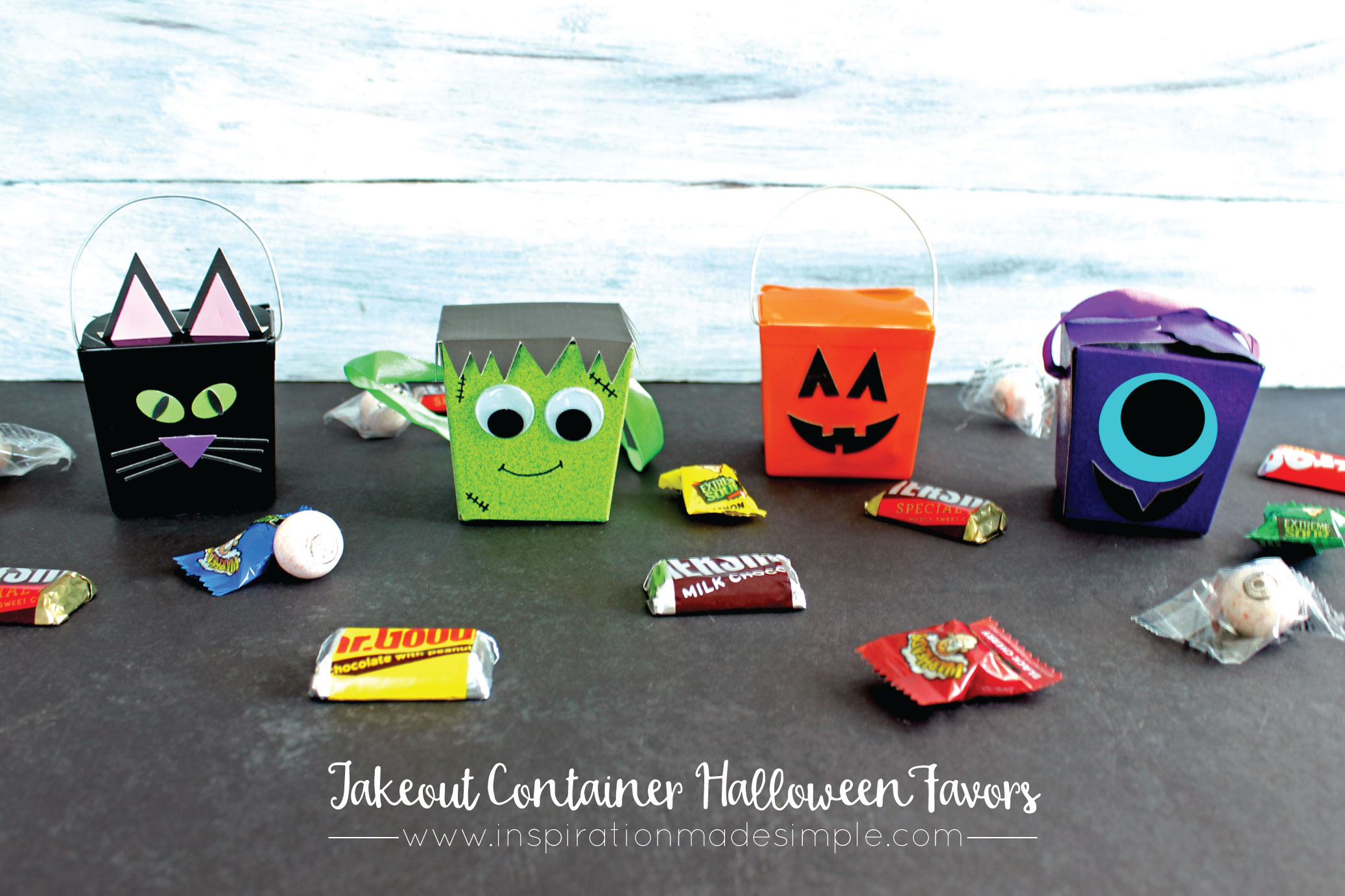 DIY Takeout Container Halloween Favors