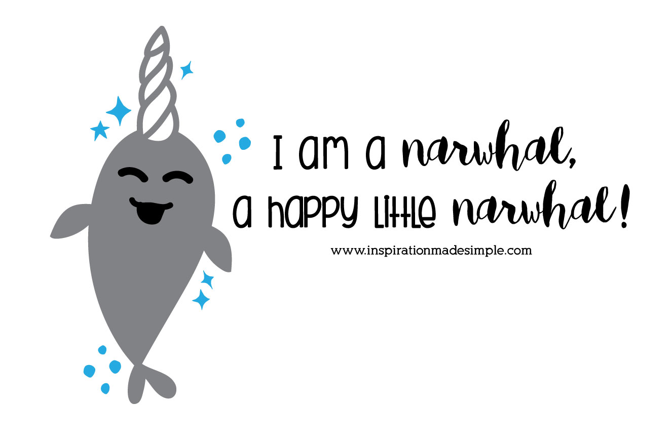 Narwhal Cut File for Cricut Machines
