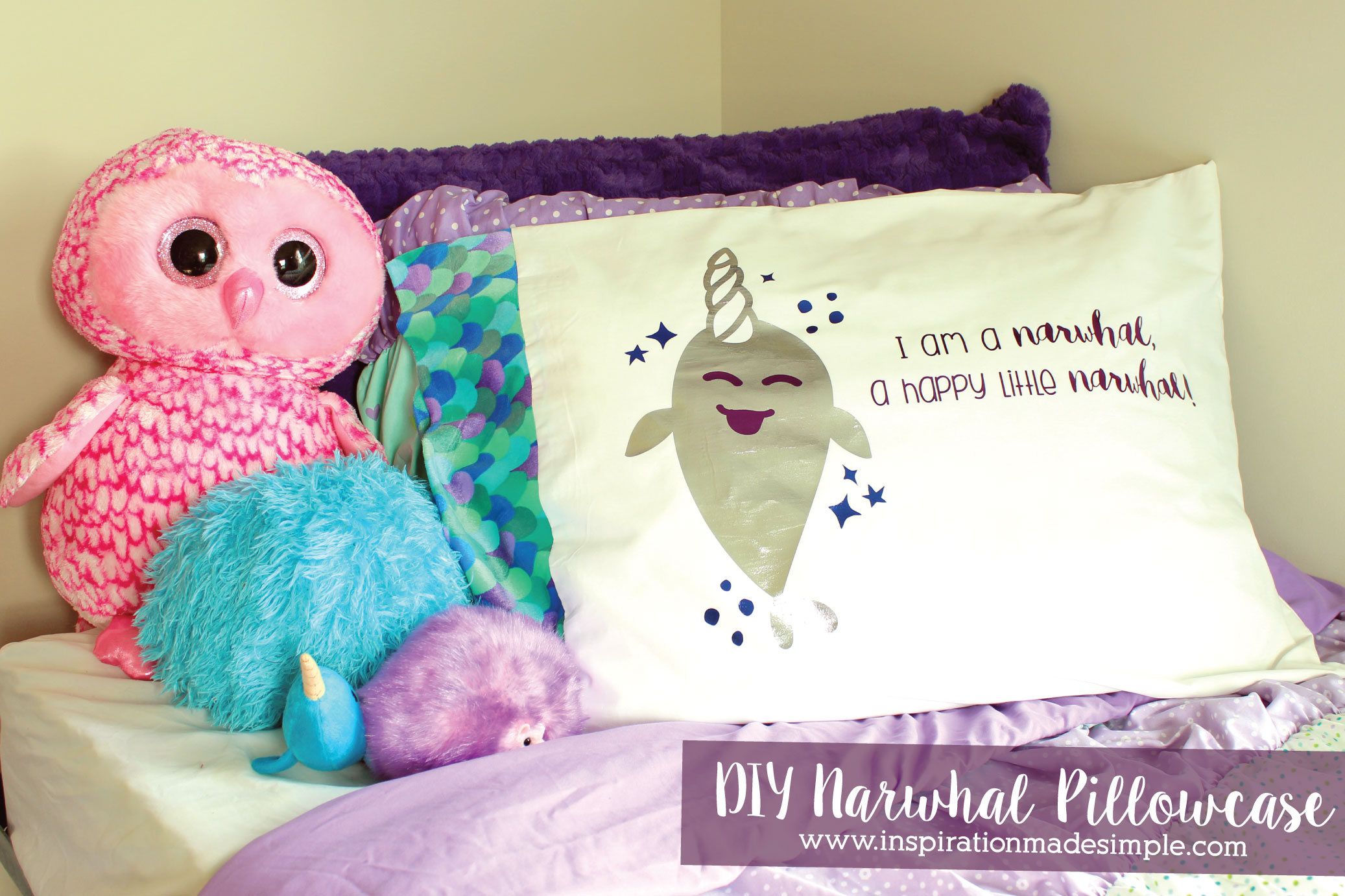 DIY Narwhal Pillowcase