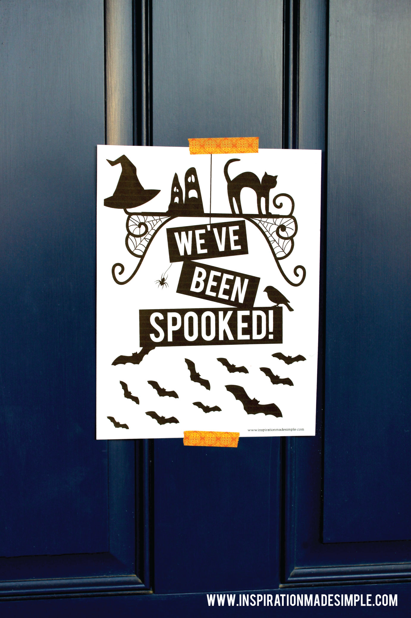 Printable You've been spooked! Halloween Printables