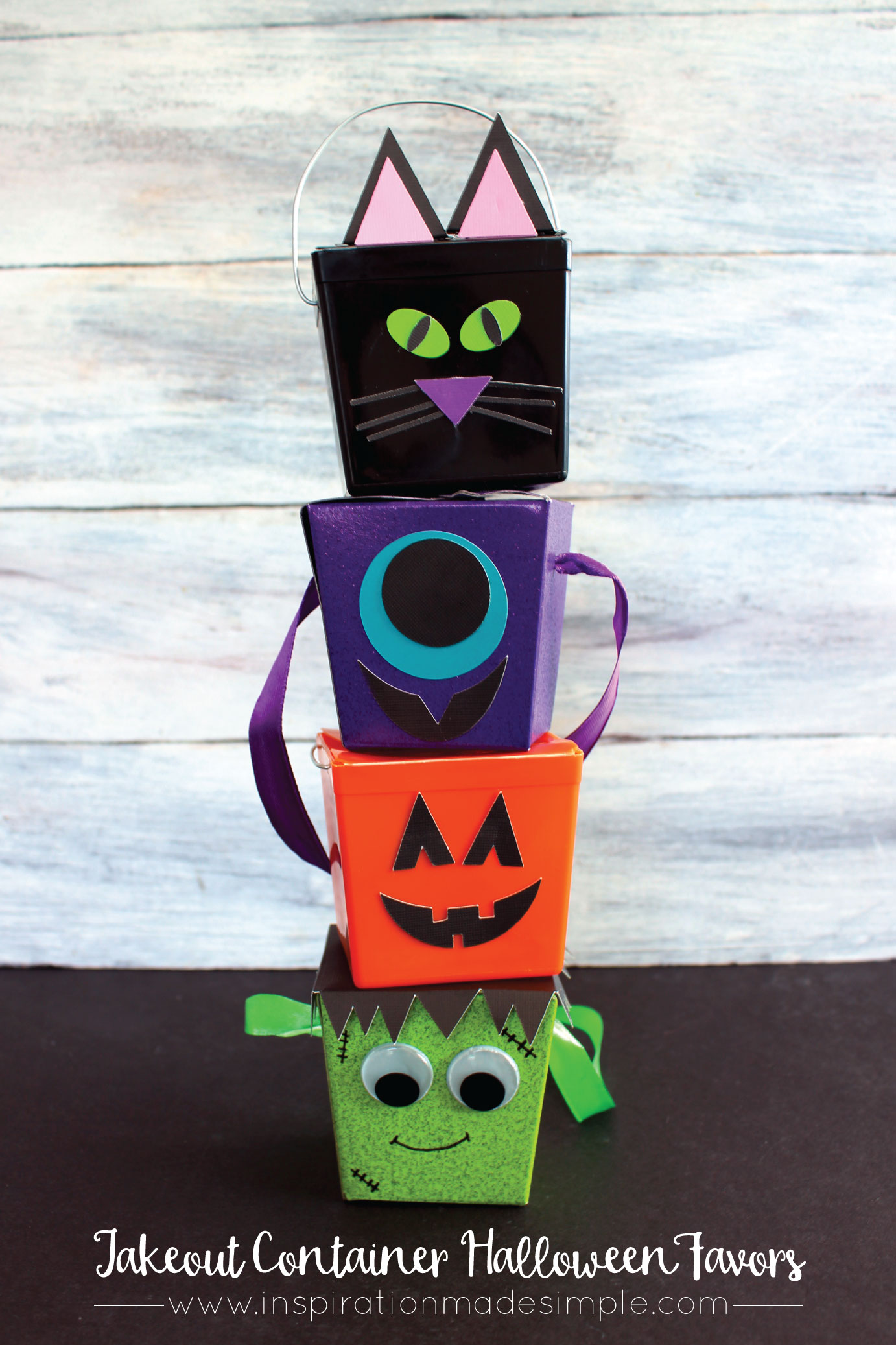 Takeout Container Halloween Favors